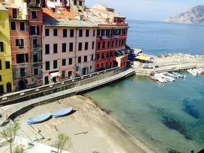 Photo for Apartment overlooking the beautiful Piazza Marconi di Vernazza