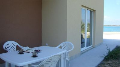 Photo for Two bedroom apartment near beach Nin, Zadar (A-13172-a)