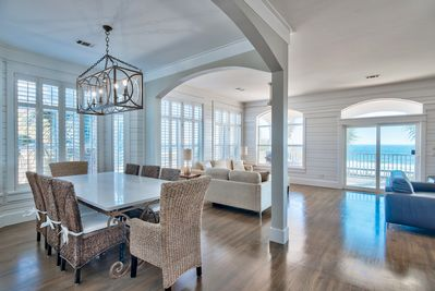 formal dining area out to the beach!