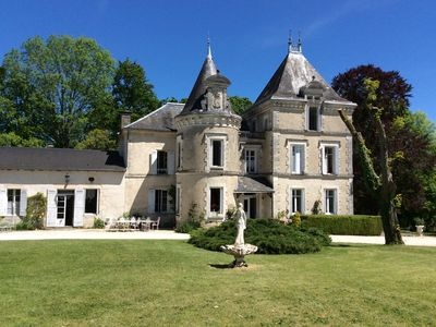 Photo for Castle in Dordogne in the land of truffles. Park, heated pool