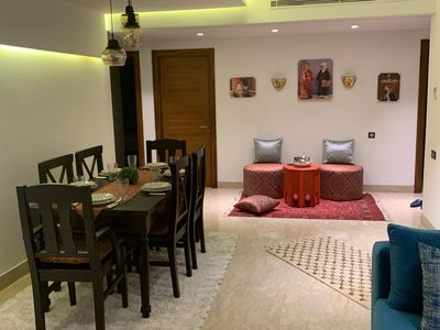 Dining room and Moroccan corner