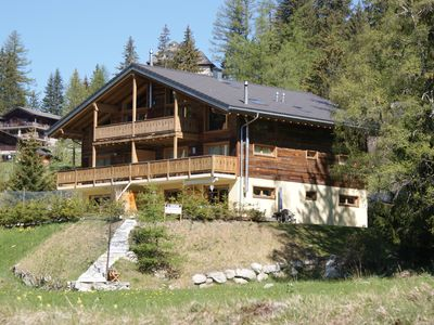 Photo for Luxurious penthouse in Champex-Lac for 8 people with nice view on Fal Ferret