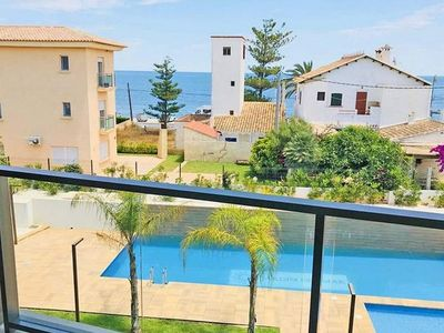 Photo for Luxury Sea View Apartment, 3 bedrooms, just a few minutes walk to the beach