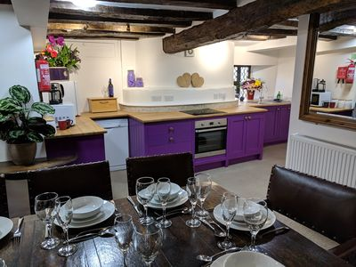 Photo for Cotswolds Valleys Accommodation  - Medieval Hall - Exclusive use character three bedroom holiday apartment