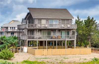 Photo for Beautiful Oceanfront Home, Waves-Brand New Pool, Hot Tub, Game Rm, Walk to Beach