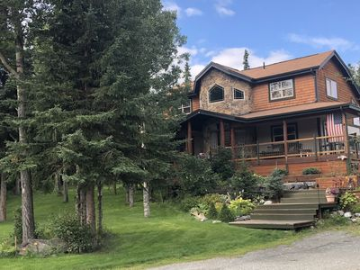 Photo for NEW LISTING -Alaskan lodge-like living - 15 min to city - 5 min to great hikes