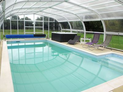 Photo for Vacation home La Piscine (LEN400) in Lengronne - 9 persons, 4 bedrooms