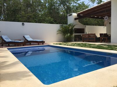Photo for Casa Mia, very comfy 4 bed, 4 bath house in Tulum town.