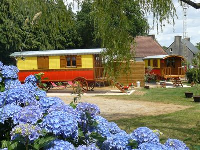 Photo for Gypsy caravan Great comfort- 20km beaches
