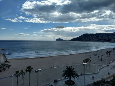 Photo for 2 bedroom first line apartment on Arenal Beach Calpe with 34 m2 terrace.