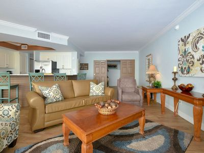 Photo for Beachfront Unit with Semi-Private Elevator! Free Beach Chair Service!2 KING BEDS