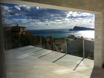 Photo for EXCLUSIVE INTERIOR DESIGN VILLA WITH FANTASTIC VIEWS TO THE SEA AND THE MOUNTAIN