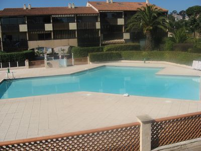 Photo for VAR ARRIVAL, STAY AND BEACH WALK, STUDIO 4 PEOPLE, SWIMMING POOL, AIR CONDITIONING, PARKING