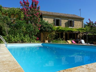 """Photo for Charming house """"without fuss"""", 4 bedrooms and large swimming pool on enclosed grounds."""