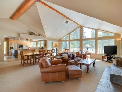 Photo for NEW LISTING! Golf course-front home w/deck & shared pools/hot tubs - dogs OK!