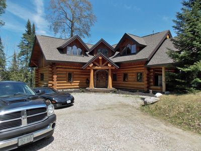 Marvelous Waterfront Log Chalet Mont St Marie Gracefield Download Free Architecture Designs Intelgarnamadebymaigaardcom