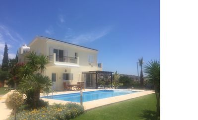 Photo for LUXURIOUS AND SPACIOUS VILLA WITH LARGE PRIVATE POOL AND PANORAMIC SEA VIEWS