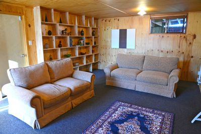 The comfortable lounge is ideal for relaxing
