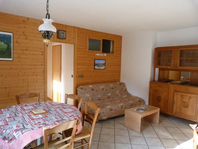 Photo for Apartment in the center of Arêches village, ski lifts at 100m