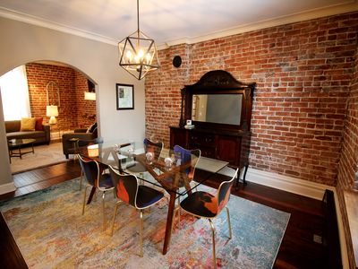 Photo for Elegant Downtown Salida Home; Historic Charm, Exposed Brick, 2 blocks from River