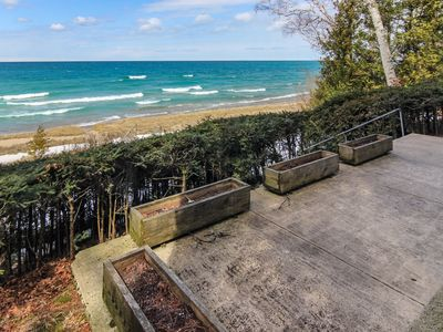 Photo for Lake Michigan Beachfront in Historic Leland Village