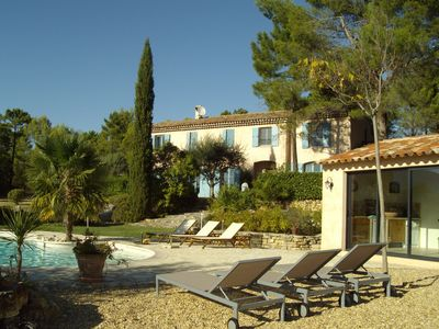 Photo for TOURRETTES, CHARMING BASTIDE, SWIMMING POOL, POOL HOUSE 6 people on 40 ha