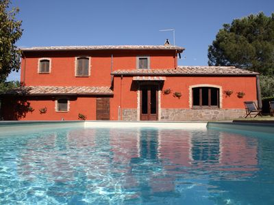 Photo for Stunning private villa for 6 guests with A/C, WIFI, private pool, TV, panoramic view and parking