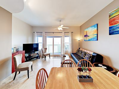 Photo for Walk to Galveston Beach! Spacious 3BR w/ Pool & Beachfront Views
