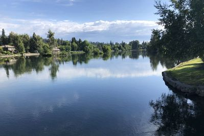 Your view across the street of the Deschutes River