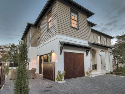 Photo for South 30A Modern Beach Chic Luxury Home Next to Rosemary+FREE BIKES+Beach Set Up
