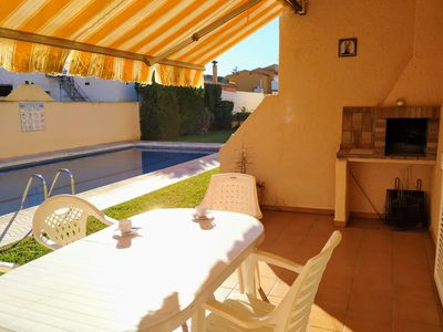 Photo for Villa Beget, capacity 4 / 5pax, super TERRACE, BARBECUE, COMMUNITY POOL.