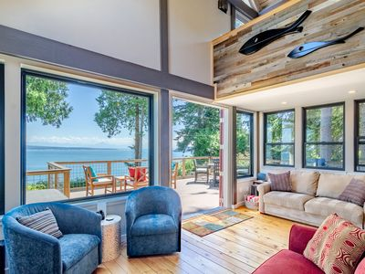 Photo for Maple Cove Hideaway - Ocean Front Cabin - Close To Langley!