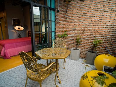 Photo for eye popping 1 bedroom with private garden on a private gated street in old city