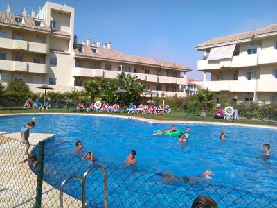Photo for lovely flat (ground floor) at Manilva (Andalucia): 5 P/2 pools/300m beach