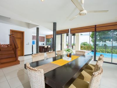 Photo for ❤️ 4 BR Sunset Villa ✅ Private Pool ✅ Fully Staffed ⛱ 5 Minutes To The Beach !