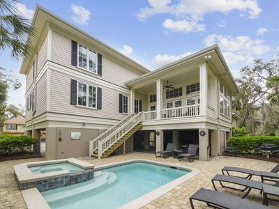 Photo for This 5,000 sq ft, 5 bedroom, and 5.5-bath  3rd row home is a premier Hilton Head property located ju