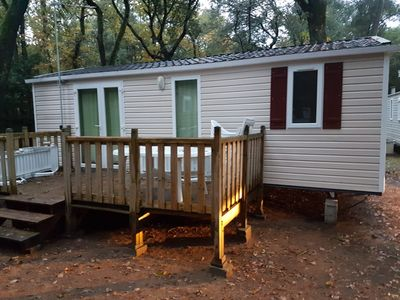 Photo for mobile home rental with terrace