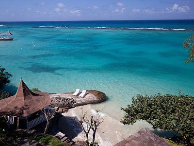 Private Beach with Gazebo at Mamiti Blue