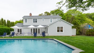 Photo for New Listing: Elegant Home South of Highway Near Town & Beach, Heated Pool, Sauna, Fireplaces