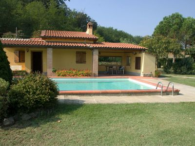 Photo for Beautiful private villa for 5 guests with private pool, WIFI, A/C, TV, pets allowed and parking