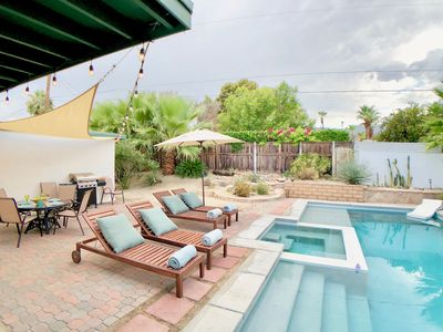 Photo for Mid-Century Retreat with New Saltwater Pool and Spa