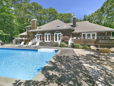 Photo for Private 5 bedroom 5 bath Amagansett retreat with heated inground pool.