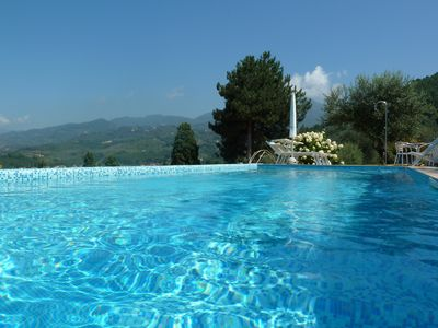 Photo for Seawater Pool and Renovated Tuscan House in Olive Garden, Panoramic View