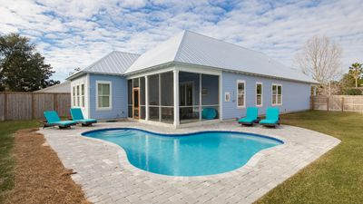 Photo for Private Pool! Large Fenced In Backyard! Sleeps 10! Close To Beach Access!