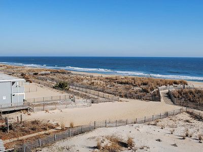 Photo for Relaxing, Stylish 1 Bedroom Oceanfront Condo with Free WiFi, an Outdoor Pool, Beach Decor, and a Great Ocean View Located in Midtown and Right by Beach!