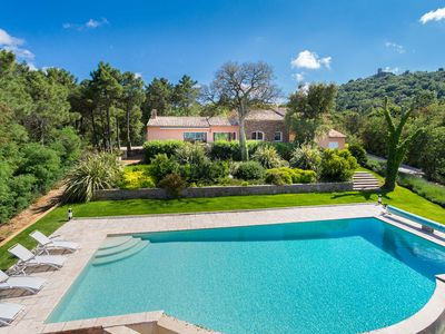 Photo for VILLA MAGIC VIEW ON THE GULF OF SAINT-TROPEZ - LARGE SWIMMING POOL 15X8