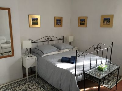 The white bedroom, sunny and air-conditioned
