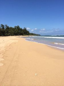 Anahola Bay, on the northeast shores of Kauai.  Whale watching and ocean play!