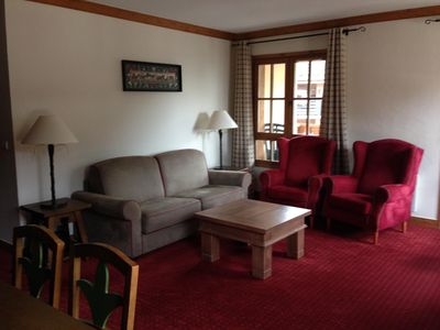 Photo for Spacious 2 bedroomed ski in ski out apartment with view of Mont Blanc