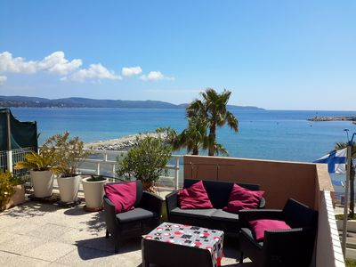Photo for Nice sea view, all comfort in the center of Cavalaire